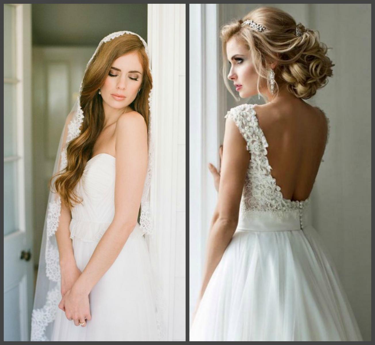 Прически невесты с аксессуарами
