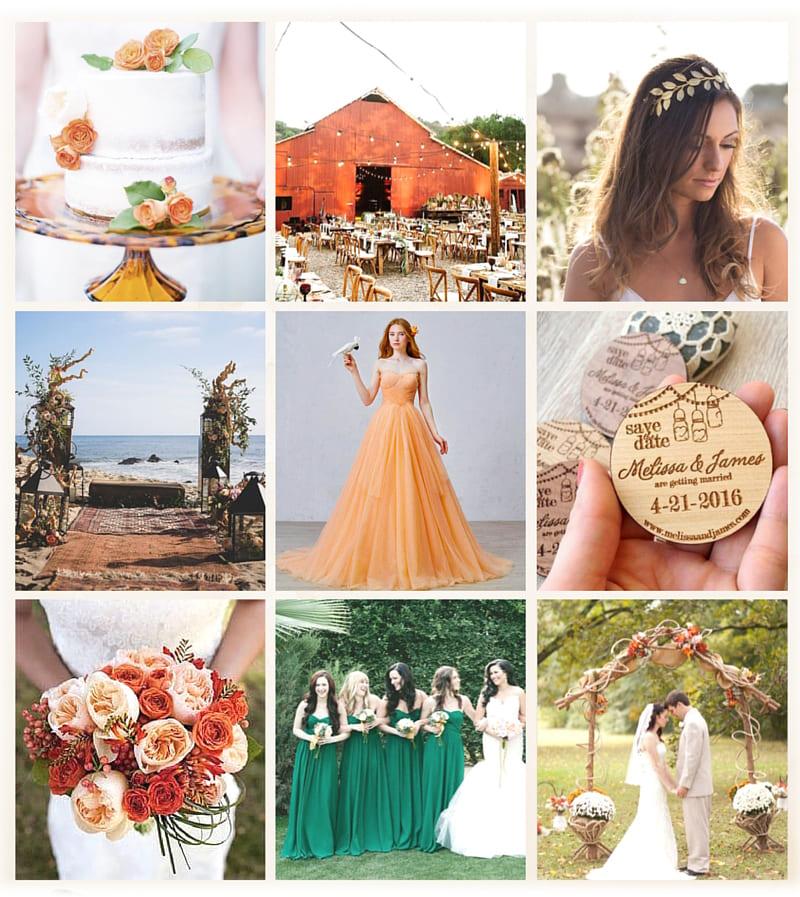 Цвет свадьбы — фрагменты осени