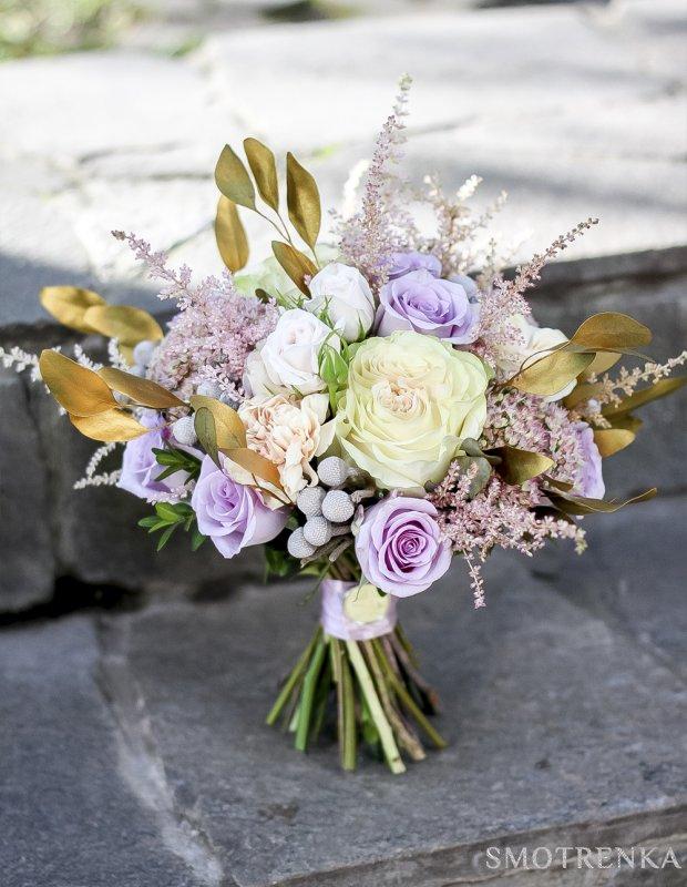 Букет невесты в винтажном стиле GOLD - 7 100 ₽