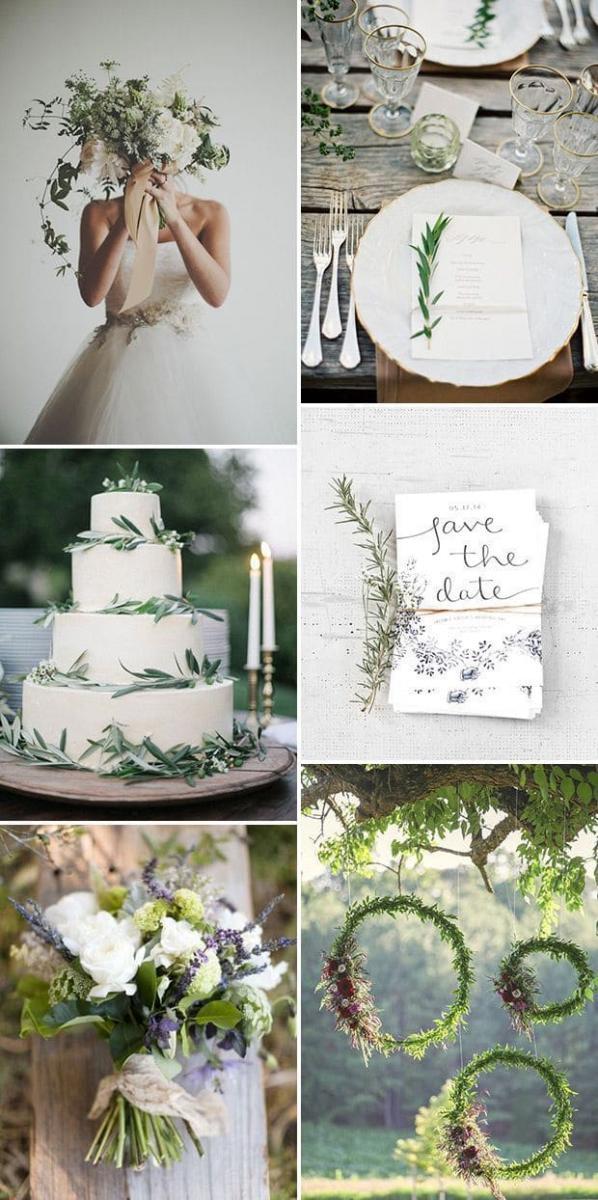 Цвет свадьбы — цвета природы