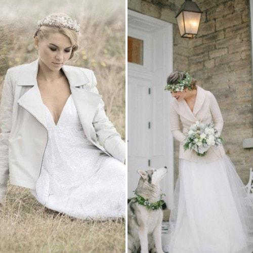 Белый жакет под свадебное платье