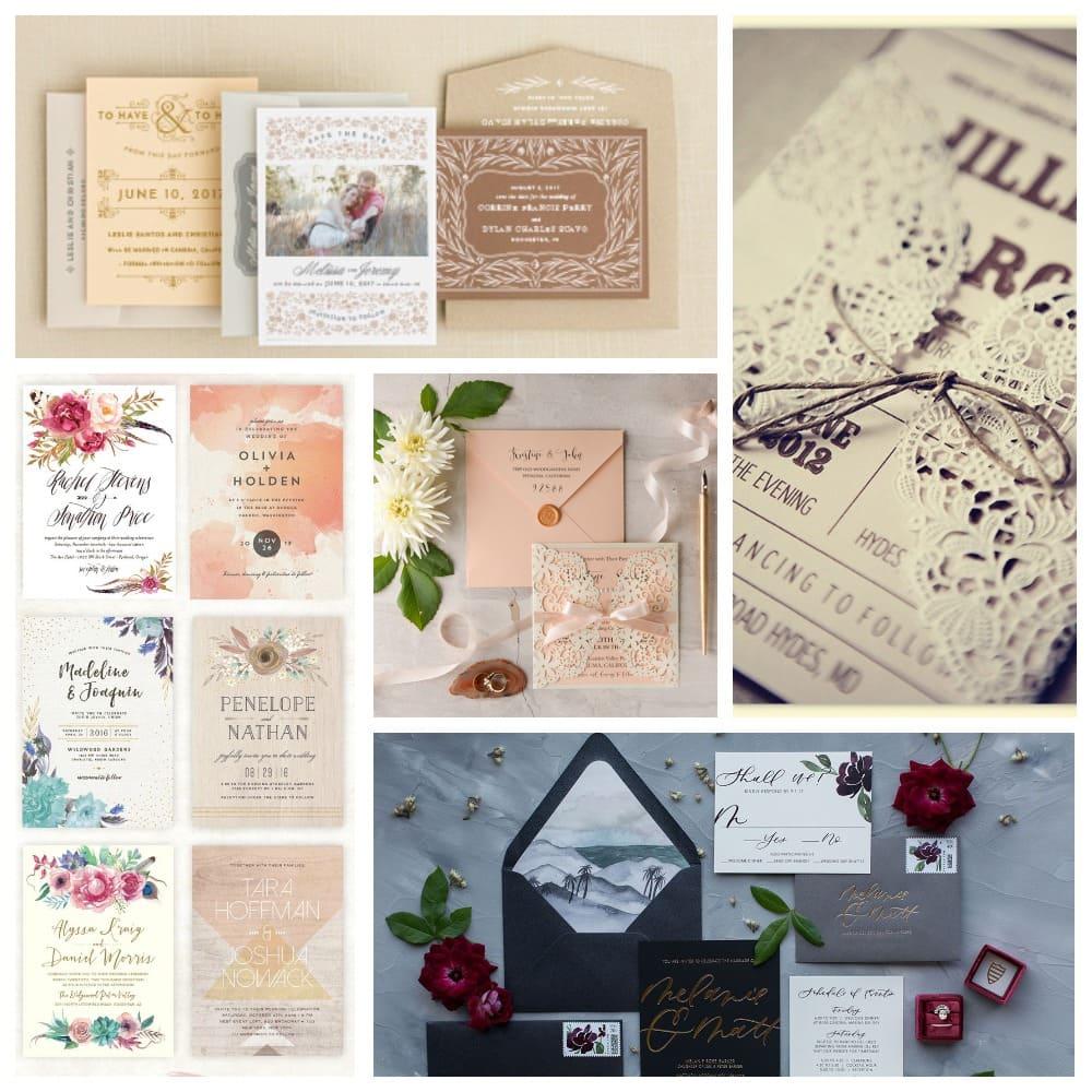 Варианты свадебных приглашений
