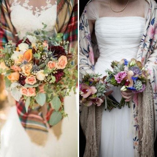 Русский платок для зимнего свадебного образа