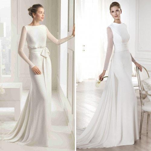 Свадебное платье-колонна