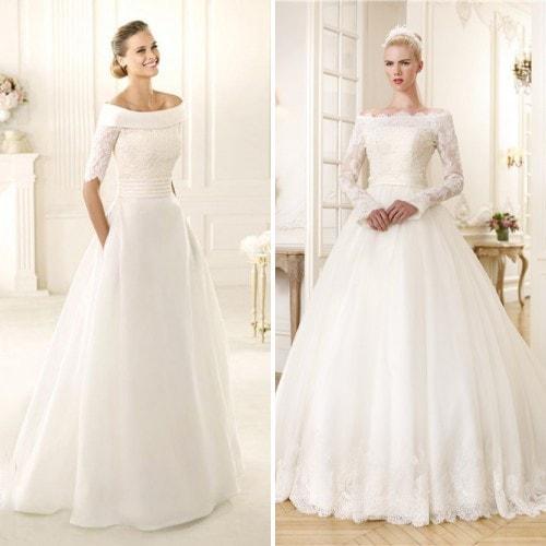 Свадебное платье с вырезом горловины «анжелика»