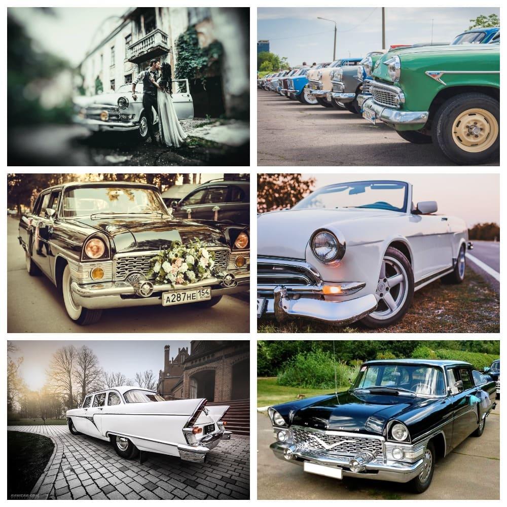 Антикварные свадебные автомобили
