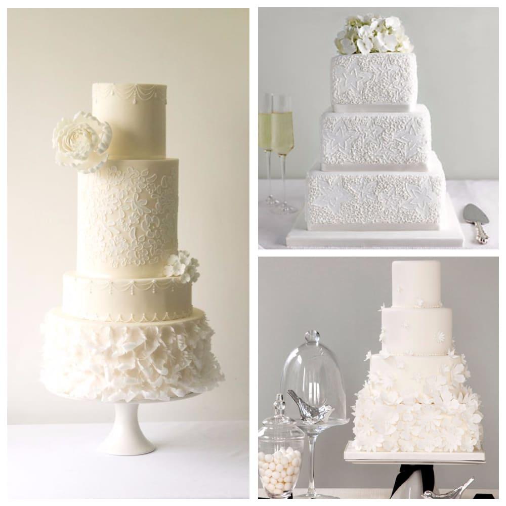Белый свадебный торт