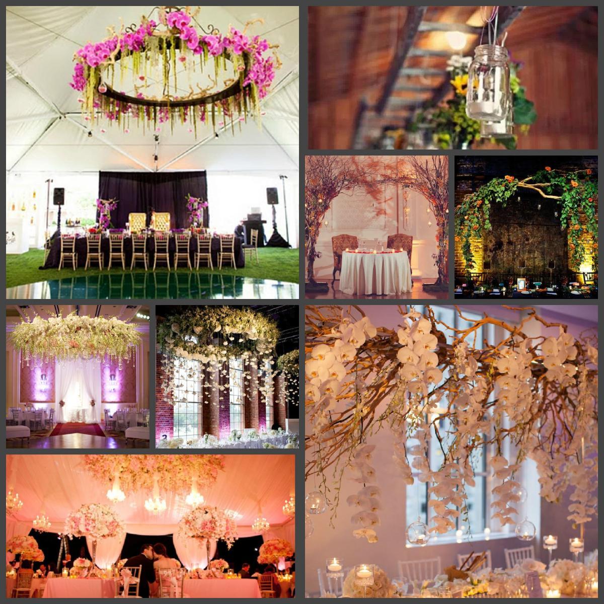 Украшение свадебного банкета цветами
