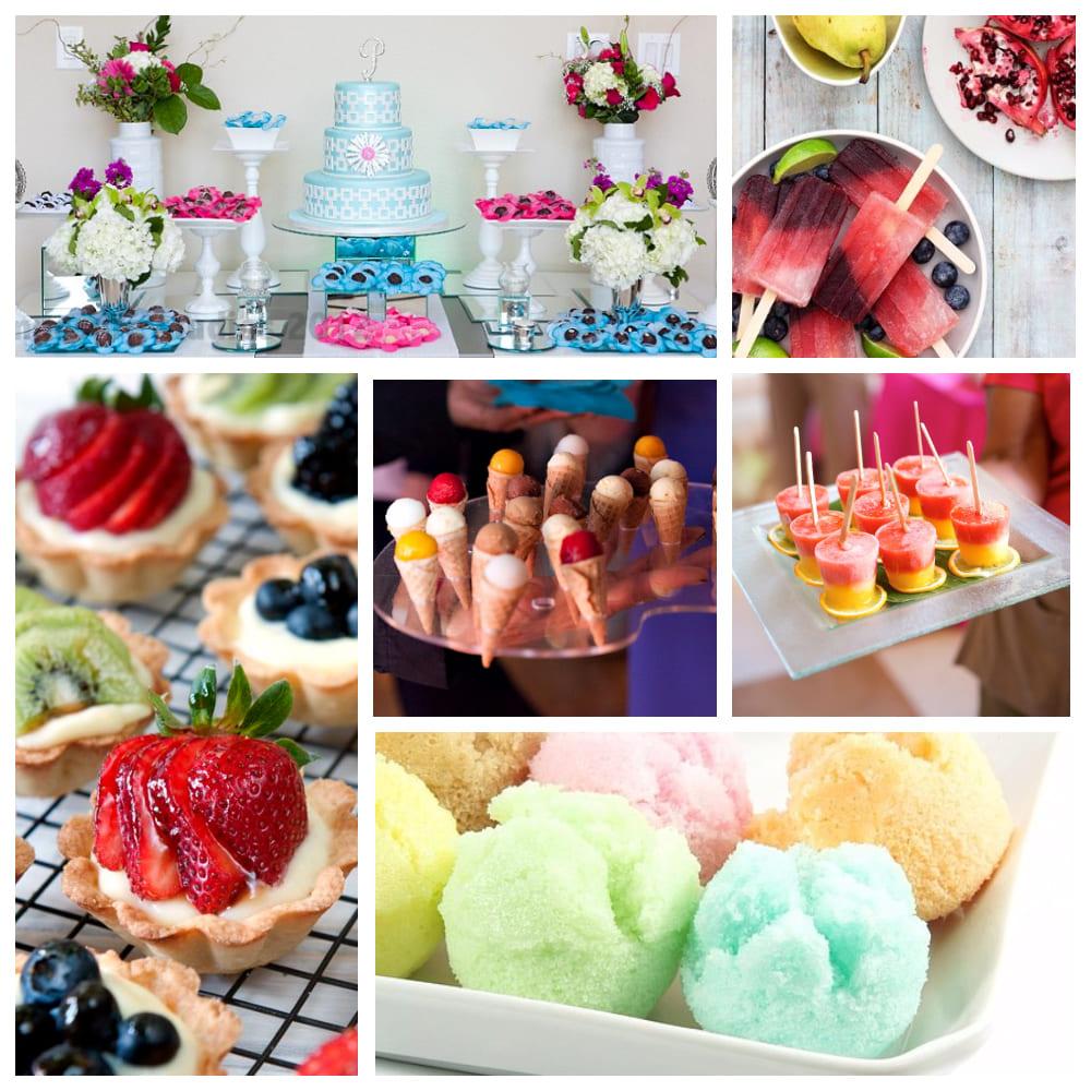 Десерты летнего свадебного стола