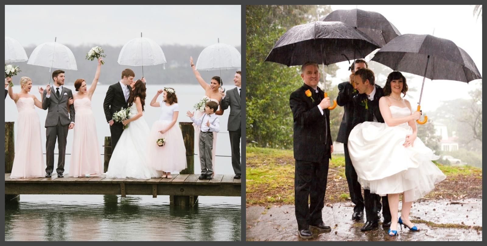 Дождь в день свадьбы — к удачи