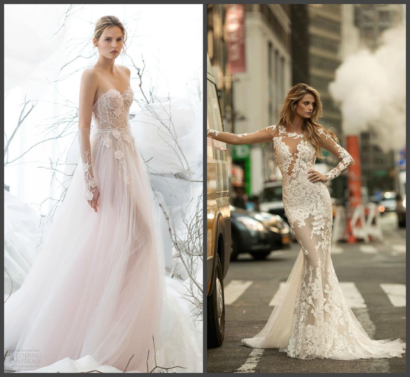 «Голое» свадебное платье