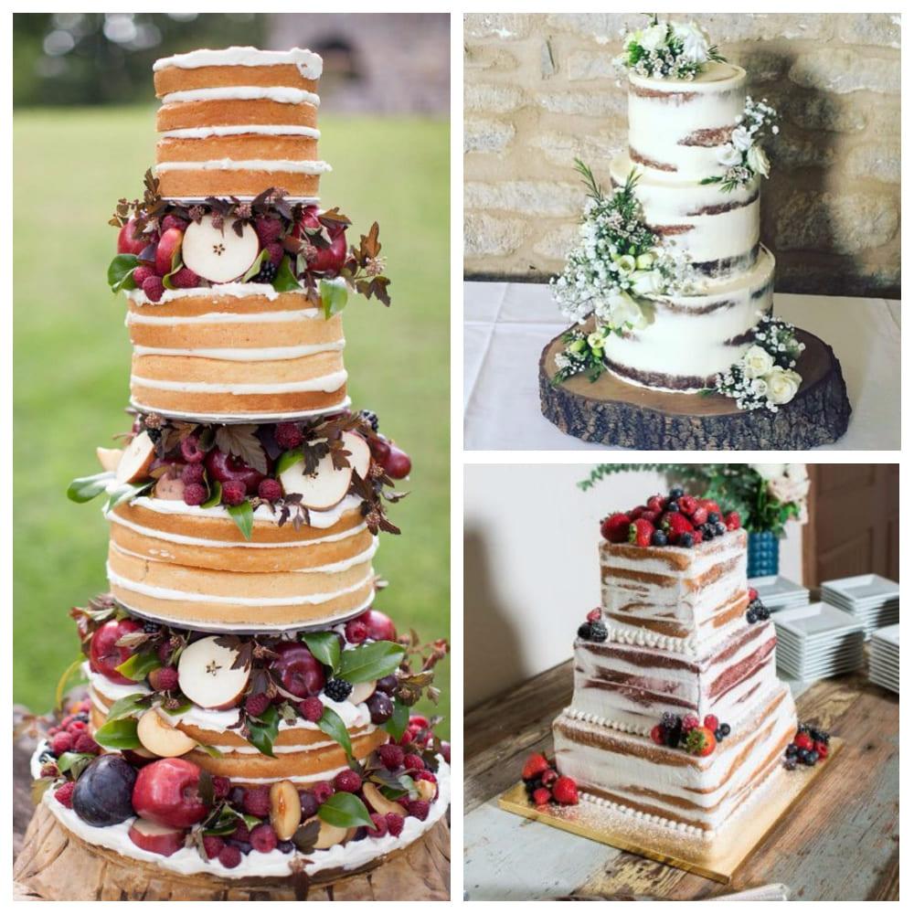 «Голый» свадебный торт