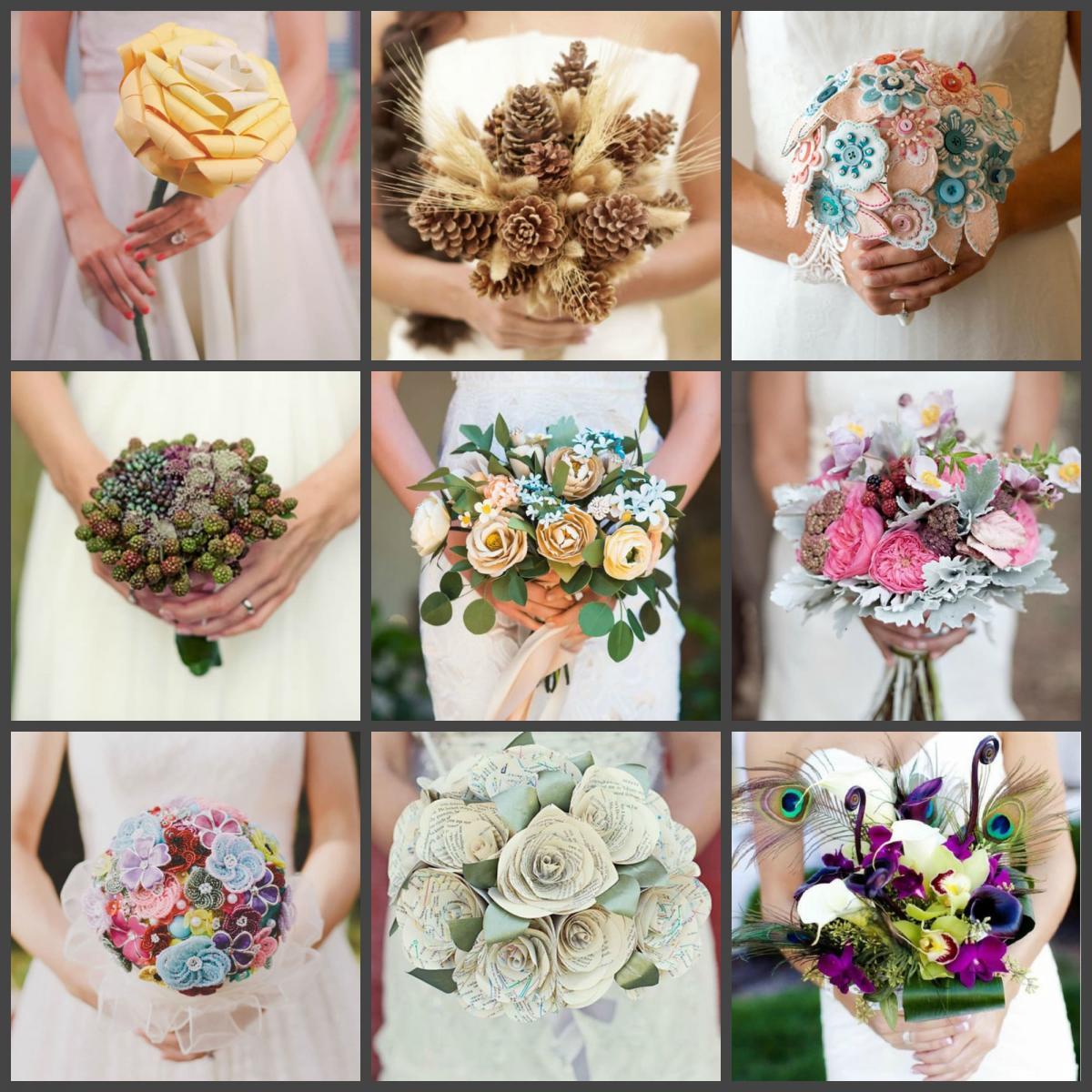 Нестандартные решения свадебного букета