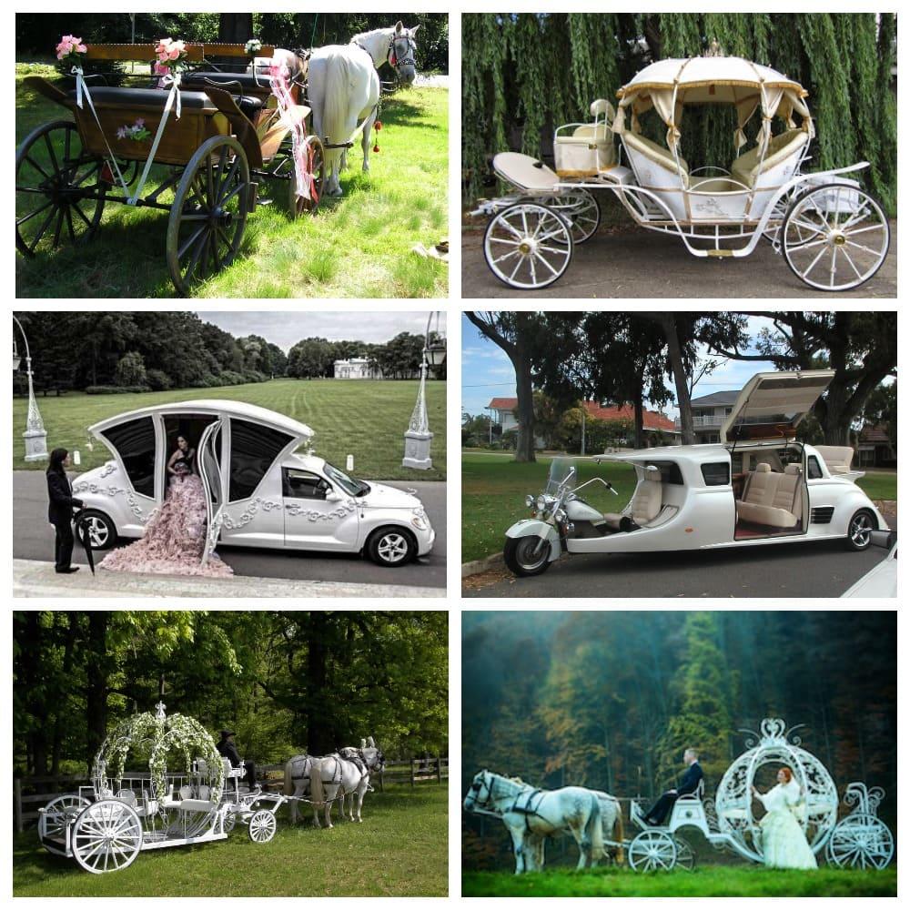 Конный экипаж или карета на свадьбу