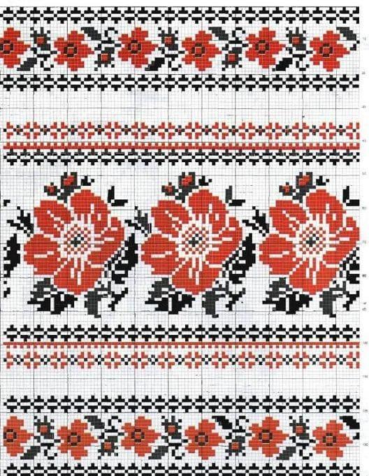 Мальва - орнамент рушника