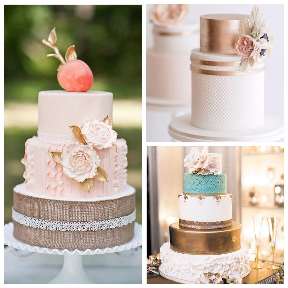 Металлический свадебный торт