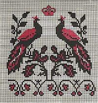 Павлины - орнамент рушника