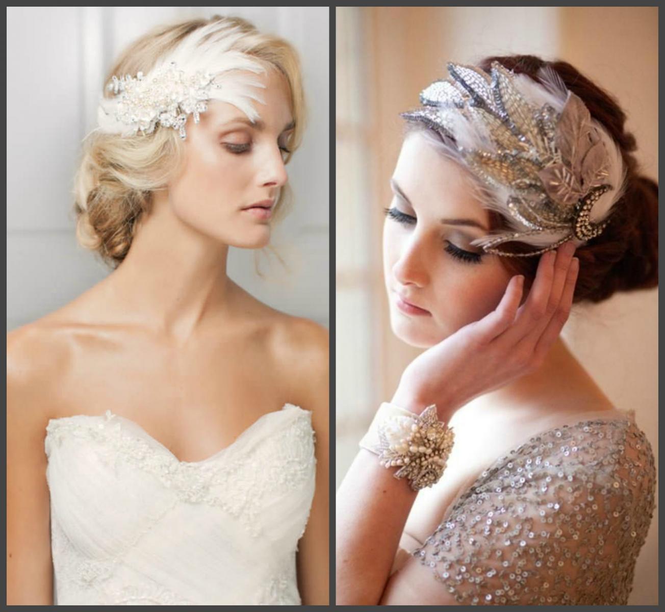 Свадебные аксессуары из перьев