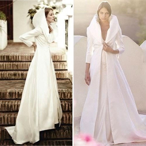 Белый плащ для невесты