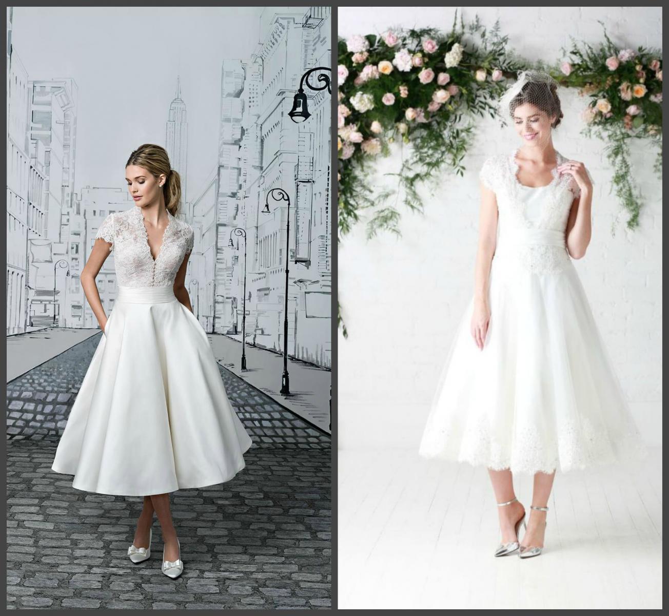 Свадебное платье чайной длины