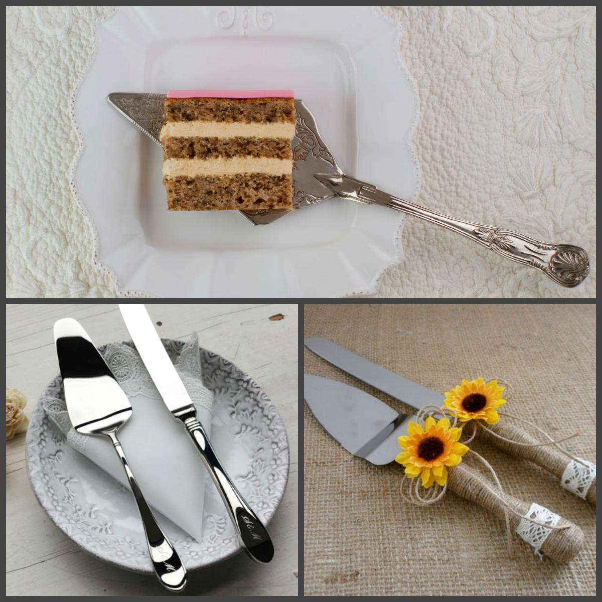 Приборы для разрезания и сервировки торта