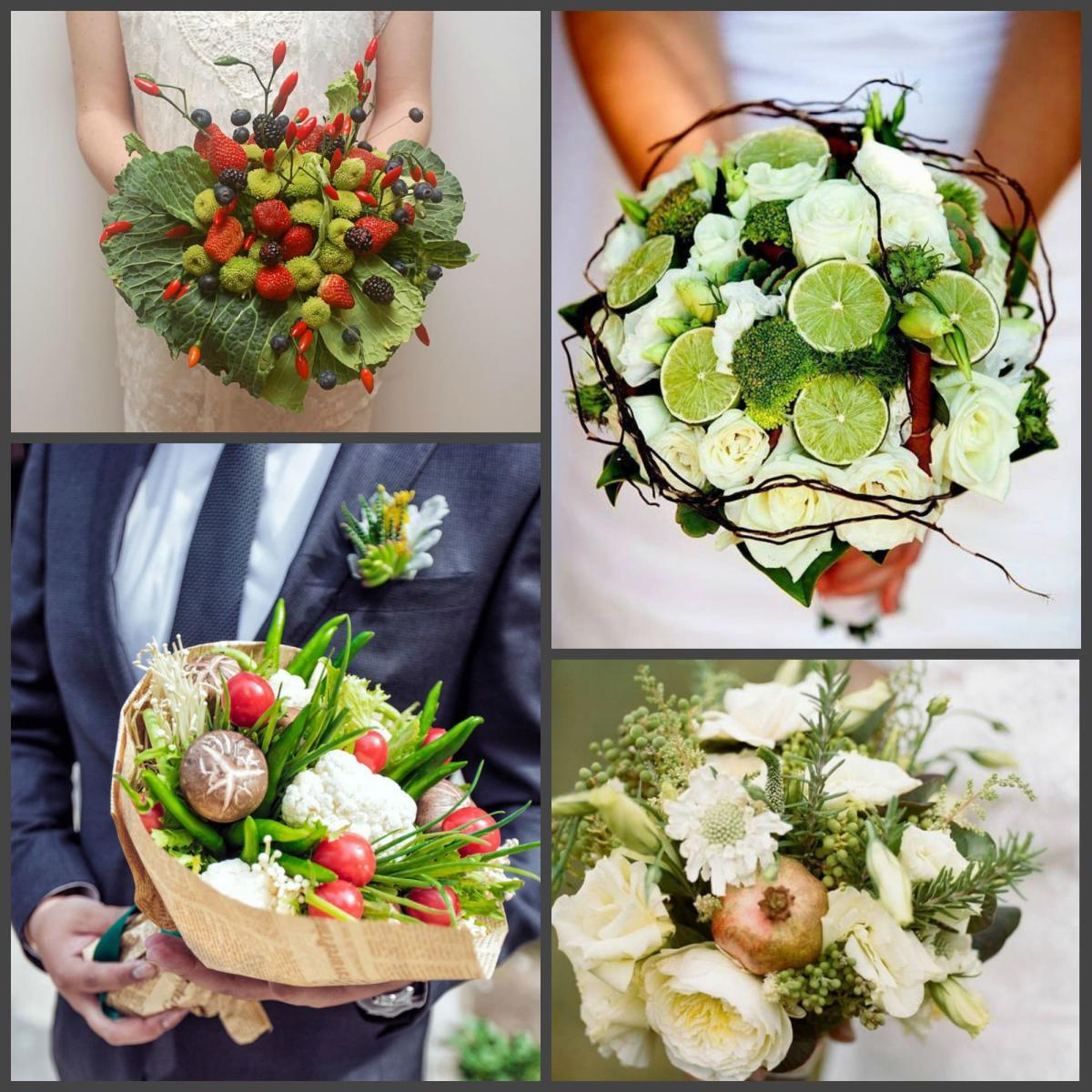 Съедобные дополнения в свадебном букете
