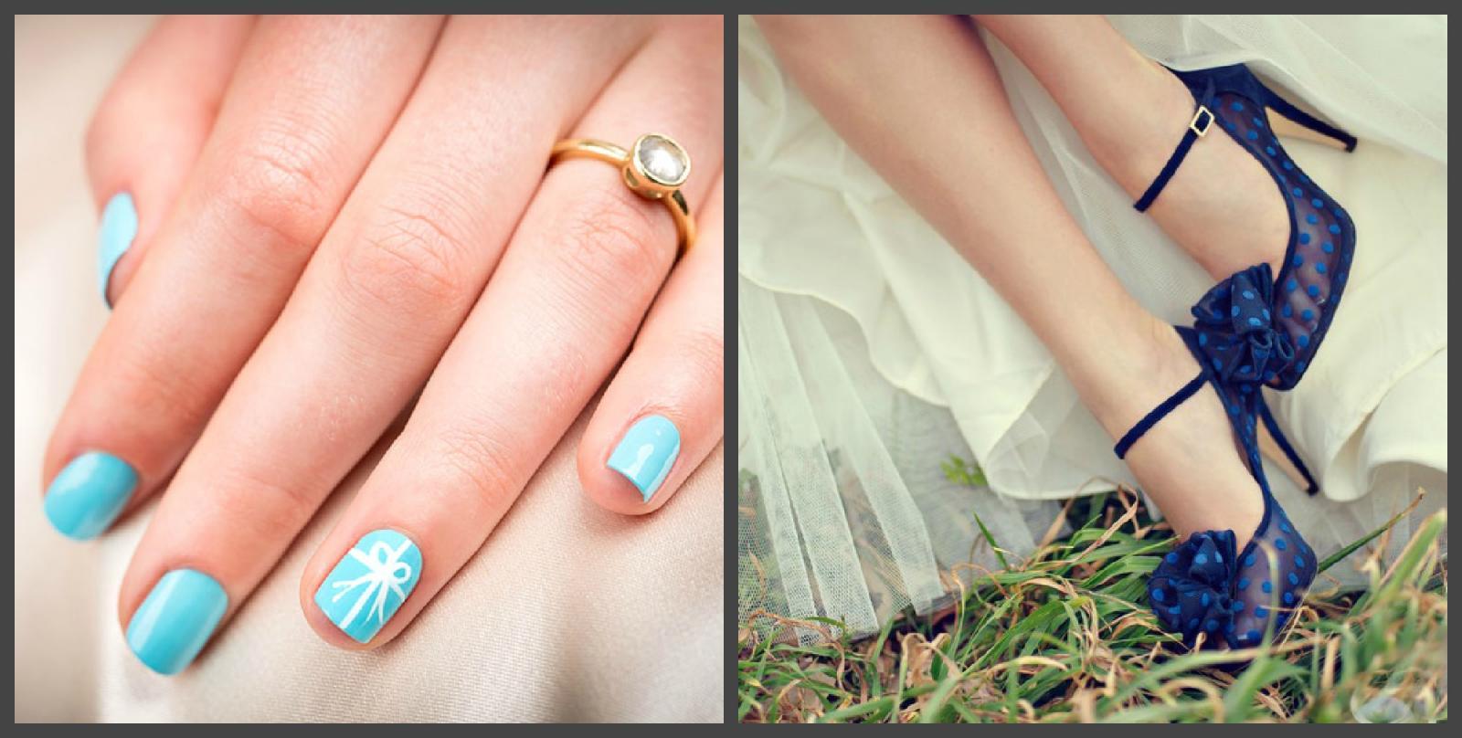 Синий цвет в образе невесты