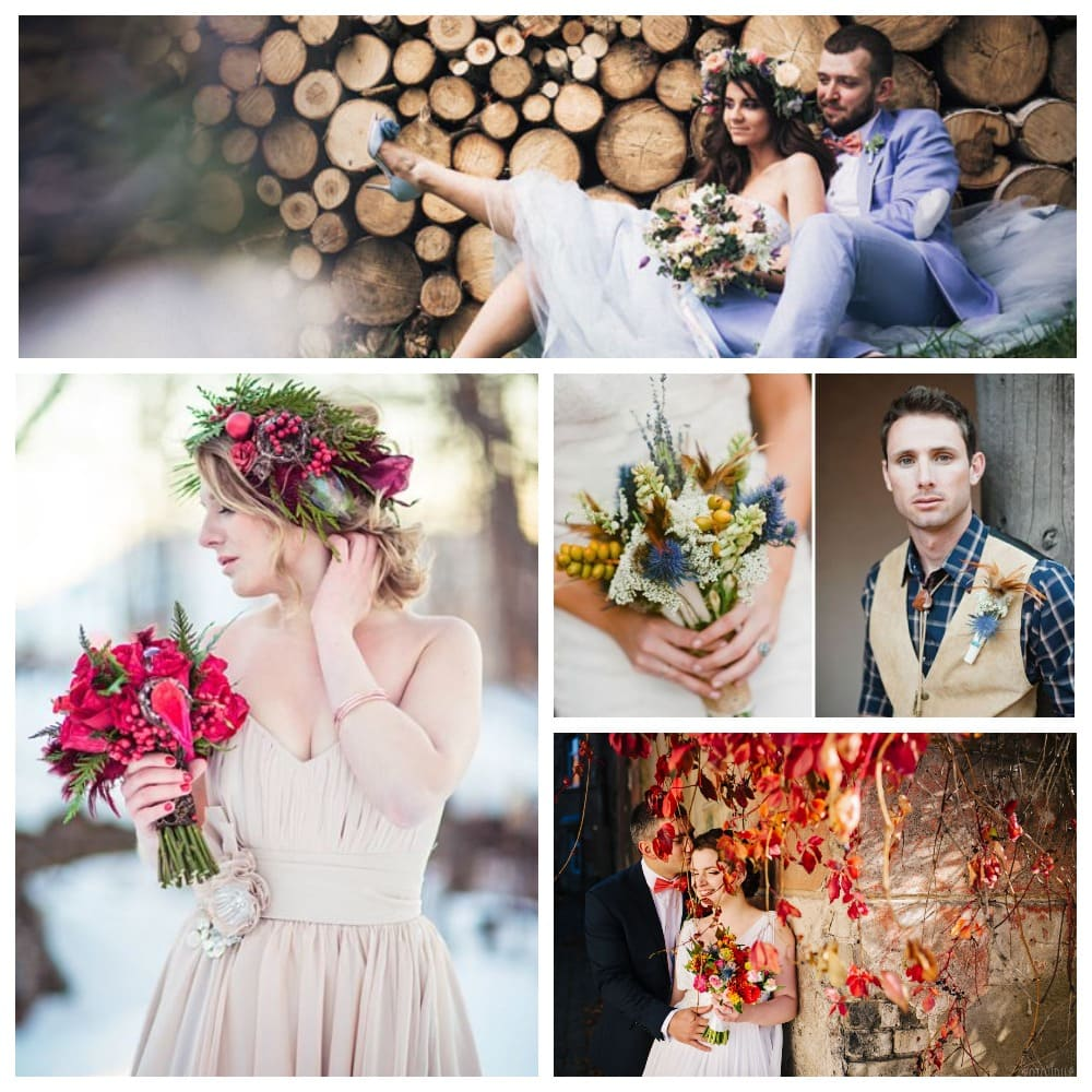 Цветы под стиль свадьбы