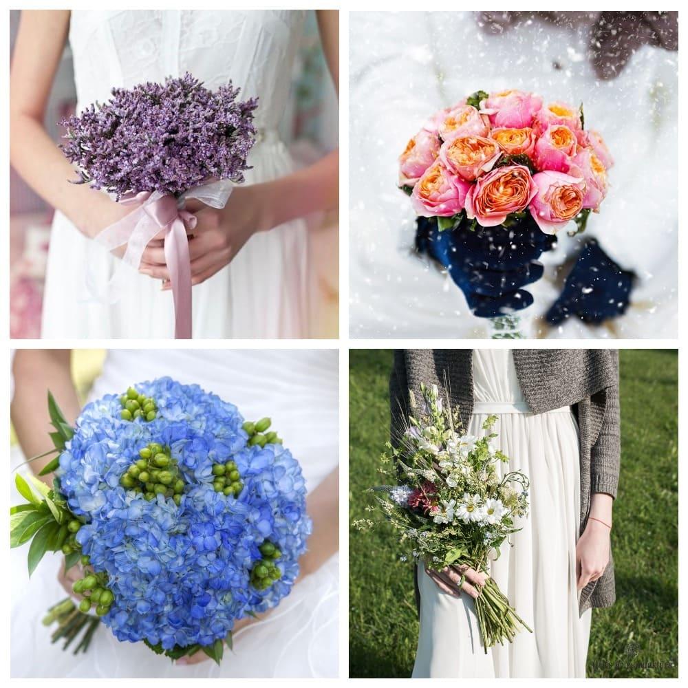 Сезонные свадебные букеты