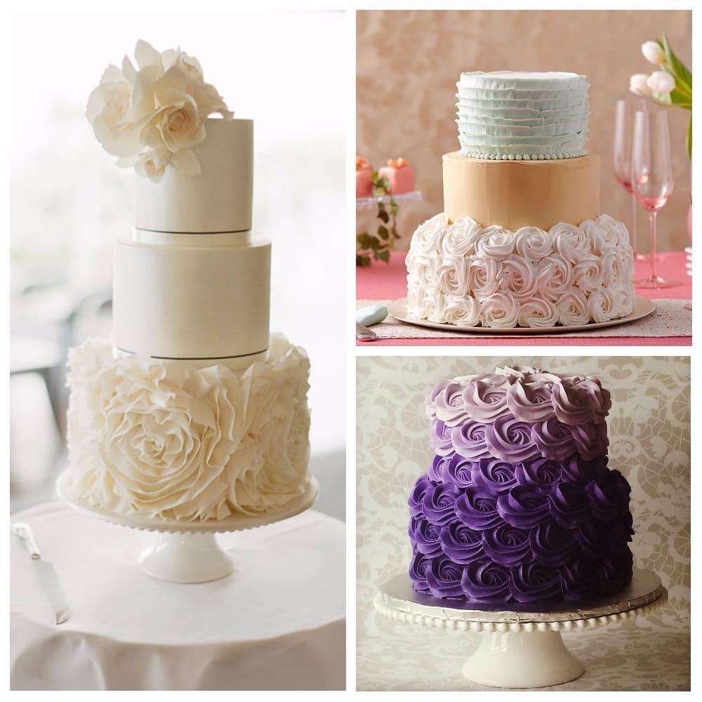 Свадебный торт с розетками