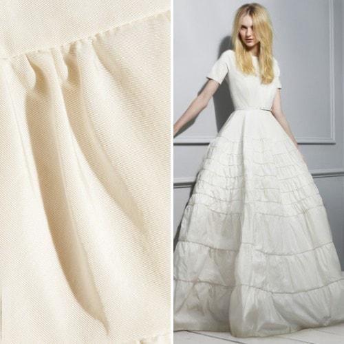 Свадебное платье из тафты-твил