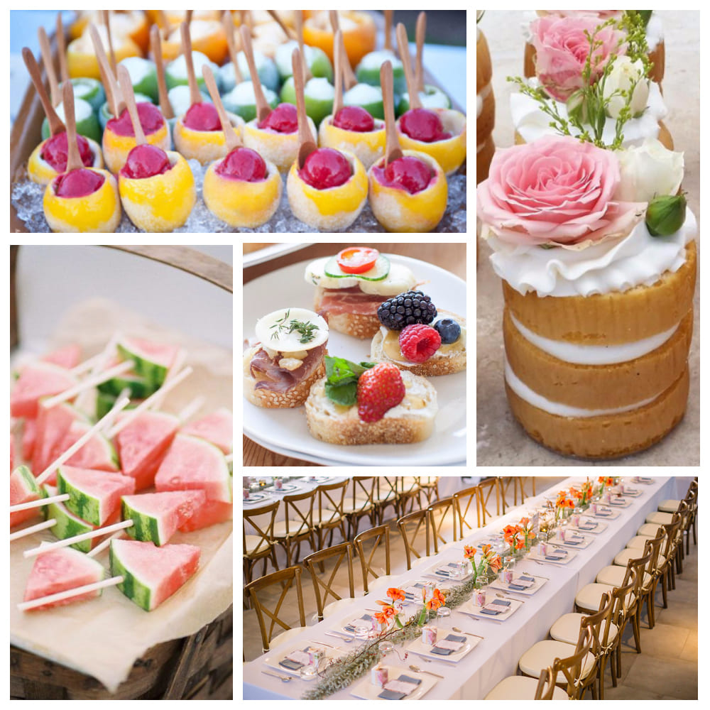 Свадебный стол: блюда для летней свадьбы