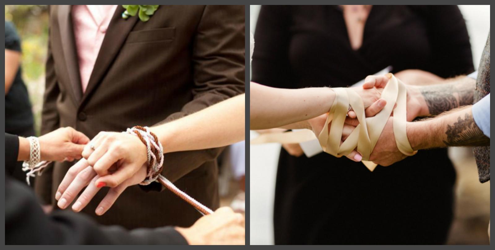Связанные руки молодоженов