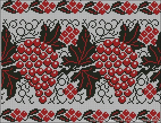 Орнамент на рушнике - Виноград