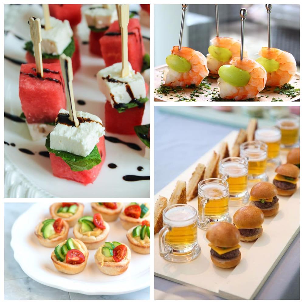 Холодные закуски для летней свадьбы